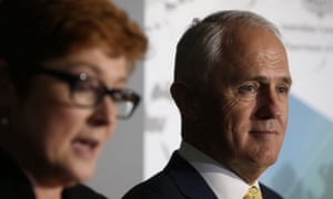 Marise Payne and Malcolm Turnbull