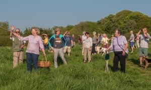 Residents on Moorside Fields in south Lancaster.