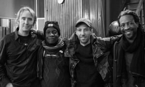Mark Mulholland, Tony Allen, Olaf Hund and Jean-Phi Dary of the Afro-Haitian Experimental Orchestra.