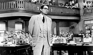 Gregory Peck in the 1962 film version of To Kill A Mockingbird.