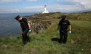 Scottish police search for swastika golf balls at Turnberry.