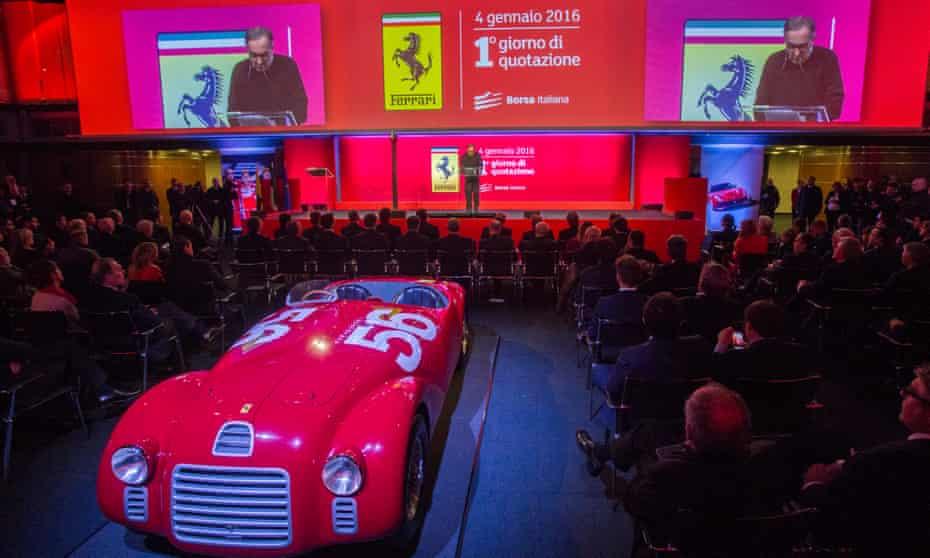 Ferrari Debuts on the Milan Stock Exchange