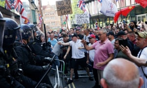 Tommy Robinson supporters protest outside the Old Bailey