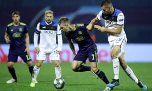 Dinamo Zagreb's Dani Olmo (left) helped dismantle Atalanta and will face Manchester City in the Champions League.