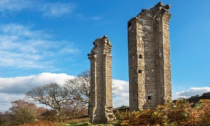 Yorkes Folly or Two Stoops in autumn on Guise Cliff near Pateley Bridge