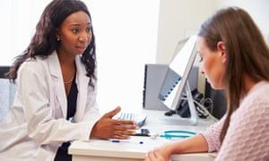 GP treating patient