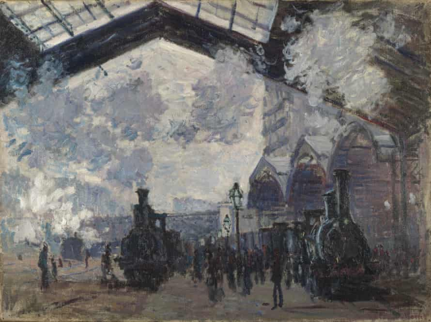 The Saint-Lazare Railway Station, 1877.