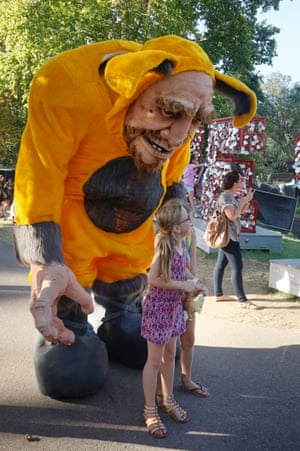 Bunk Puppets promote their new Adelaide Fringe show, Tink Tank, to delighted/terrified children