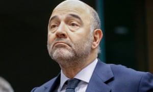 Economics commissioner Pierre Moscovici
