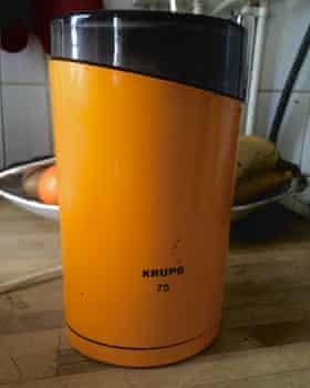 Christophe Martinez's vintage Krups grinder.