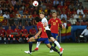 Mitchell Weiser of Germany scores the only goal of the match in the 39th minute.