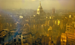 London in September 1940 after heavy German air raids during the blitz.