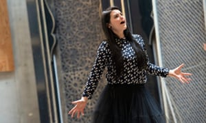 Emőke Baráth in rehearsal of Hypermestra
