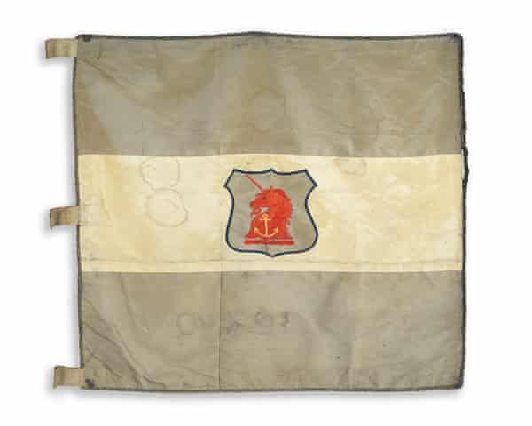 The sledge flag that was bought by the  National Heritage Memorial Fund