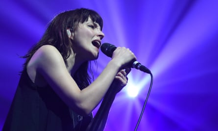 Lauren Mayberry of Chvrches at Brighton Dome.