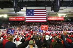 The Trump rally in El Paso in February 2019.
