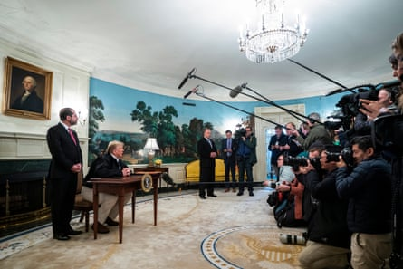 Donald Trump signs an $8.3bn coronavirus funding bill at the White House on Friday. But are there more measures to come?