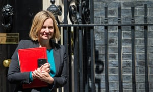 Amber Rudd, the work and pensions secretary, has warned Tory leadership candidates against entering a battle with parliament over a no-deal Brexit.