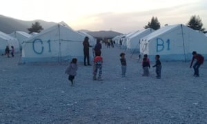 Children in the Malakasa detention camp in central Greece
