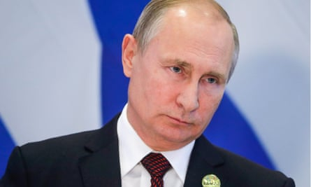 President Vladimir Putin at a news conference following the 10th Brics summit in Johannesburg, South Africa, on Friday.