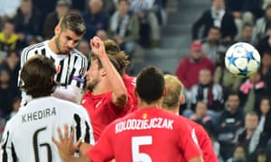 Álvaro Morata rises highest to score winner against Sevilla a fortnight after he did the same at Manchester City in Juventus's Champions League opener.