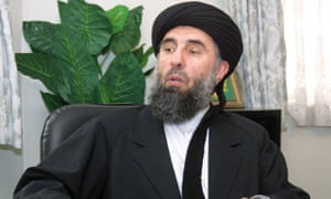 Gulbuddin Hekmatyar giving an interview in 2001.
