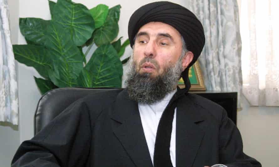 Gulbuddin Hekmatyar giving an interview in 2001.