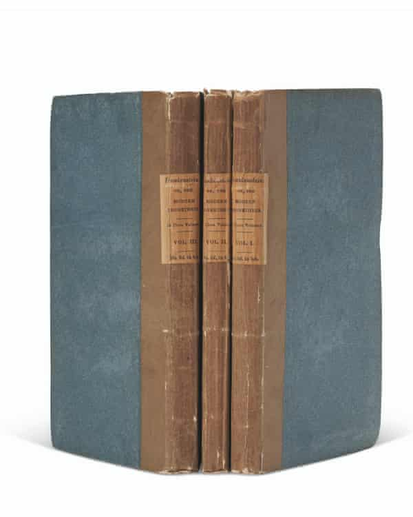 First edition of Frankenstein by Mary Shelley