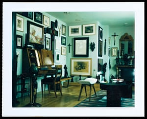 Polaroid test shot of the interior of Mapplethorpe's West 23rd Street loft, taken for House & Garden, June 1988