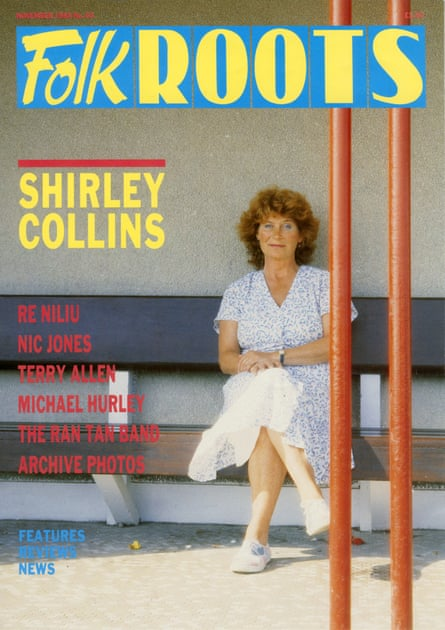 Folk Roots magazine, with folk musician Shirley Collins on the cover.