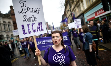A pro-choice rally In Belfast
