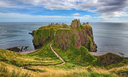 Dunnottar Castle, a medieval fortress outside Stonehaven in Aberdeenshire.