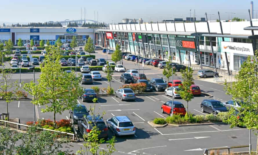 Thurrock shopping park in Essex