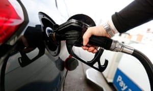 Petrol being pumped into car
