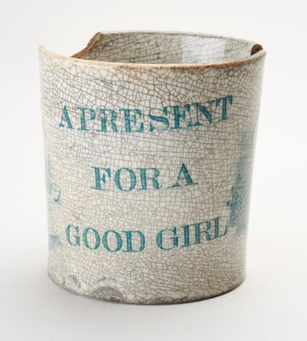 Mug with 'a present for a good girl' printed on it