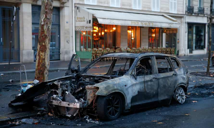 The scene in Paris on Sunday morning