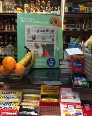 The Guardian Weekly on display in a central London newsagent in November 2016