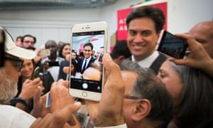Photo of photos: Ed Miliband meets supporters at Oaktree Community Centre in Acton where he posed for pictures with his party activists.