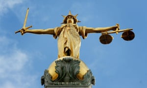 Statue of Lady Justice on top of the Old Bailey