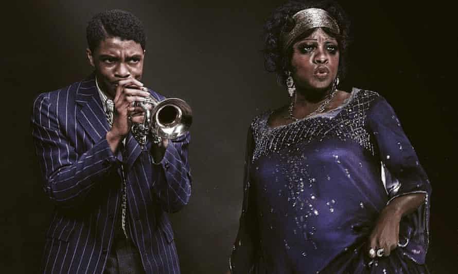 Chadwick Boseman and Viola Davis in Ma Rainey's Black Bottom.