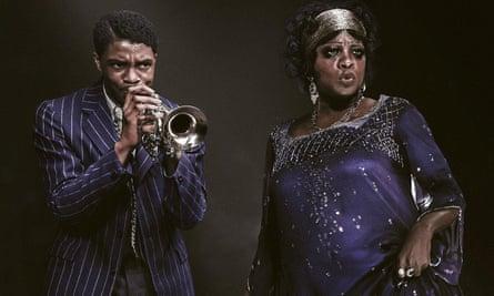 Simmering tension … Chadwick       Boseman and Viola Davis in Ma Rainey's Black Bottom.