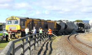 Tasmanian train derailed