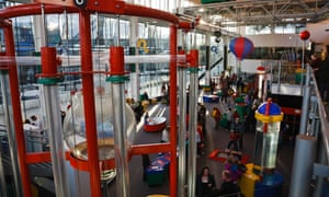 Inside the Techniquest Discovery Centre, Cardiff Bay, Cardiff, Wales.