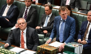 Scott Morrison and Christian Porter during question time