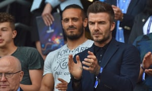 David Beckham was in attendance with his daughter and gave the England team a pep talk before the match.