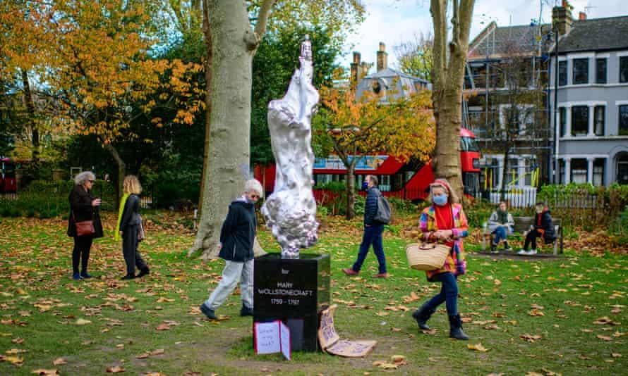 Mary Wollstonecraft statue on Newington Green, north London.