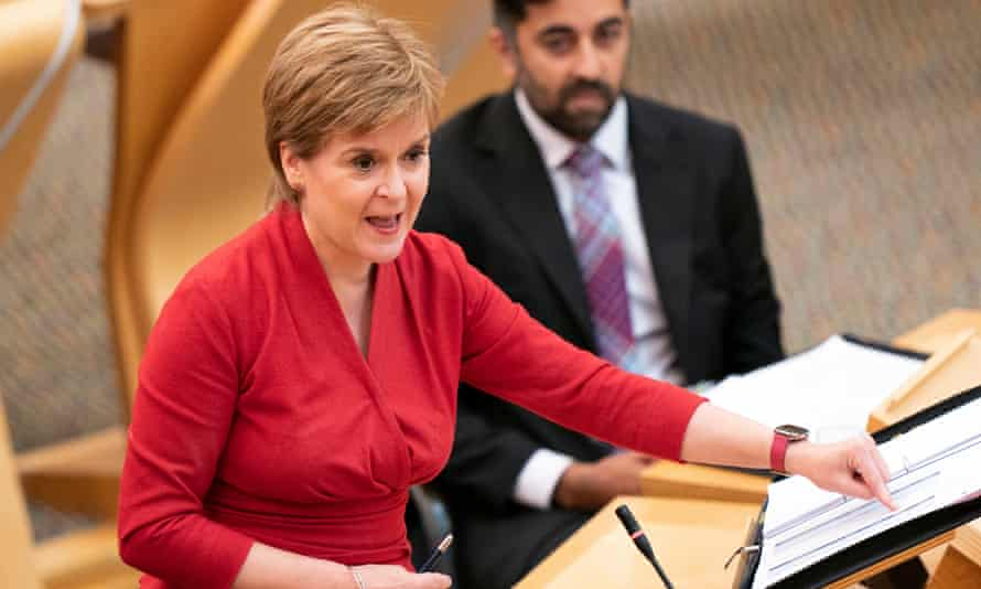 Nicola Sturgeon during First Minister's Question on 2 September.