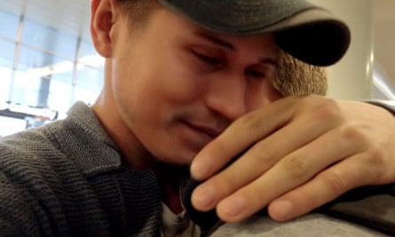 Reunited … Grisha (left) and his boyfriend Bogdan.