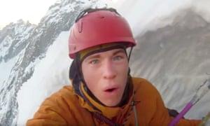 Tom Ballard who has gone missing on Nanga Parbat in the western Himalayas.