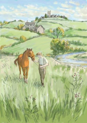 "'He would lead me out over the fields and down to the flat, thistly marsh by the Torridge river."" Illustrator Mark Burgess (UK)"